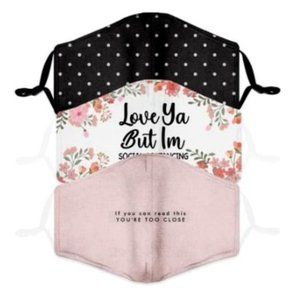 Fashion Adult Face Mask -Quote & Polka Dots